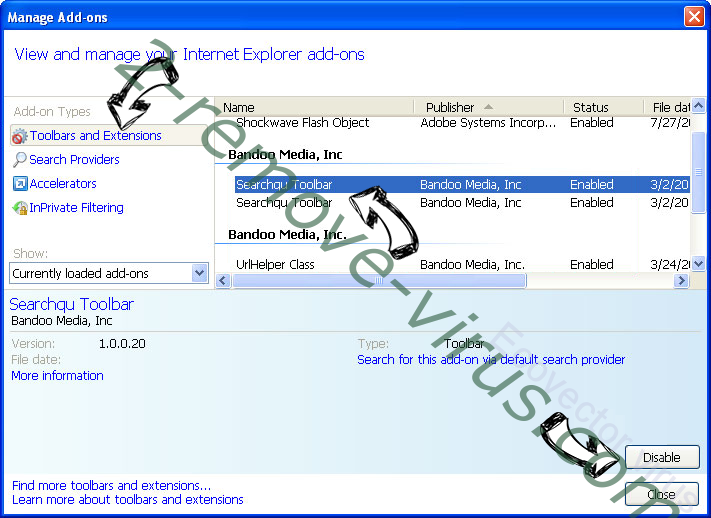 Ecovector virus IE toolbars and extensions