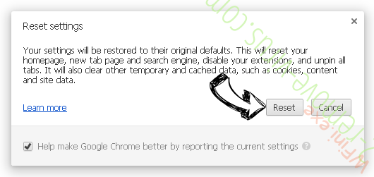 WFini.exe Chrome reset