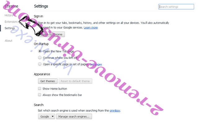 YahooChrome Chrome settings