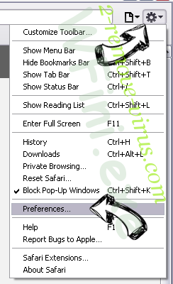 LeChiffre Virus Safari menu