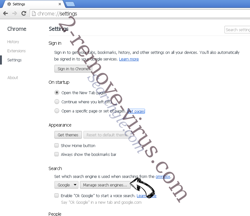 Ooo.versetugging.com entfernen Chrome extensions disable