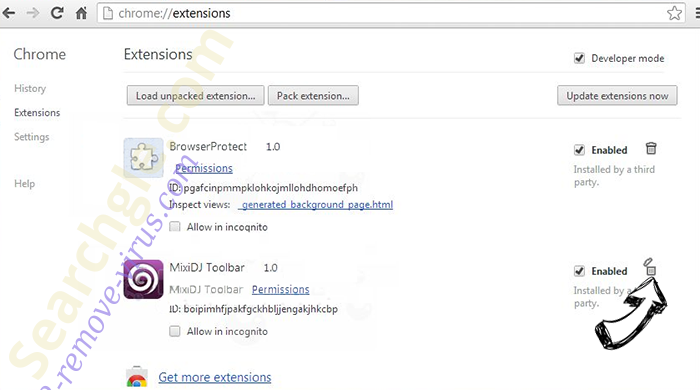 Ooo.versetugging.com Chrome extensions remove