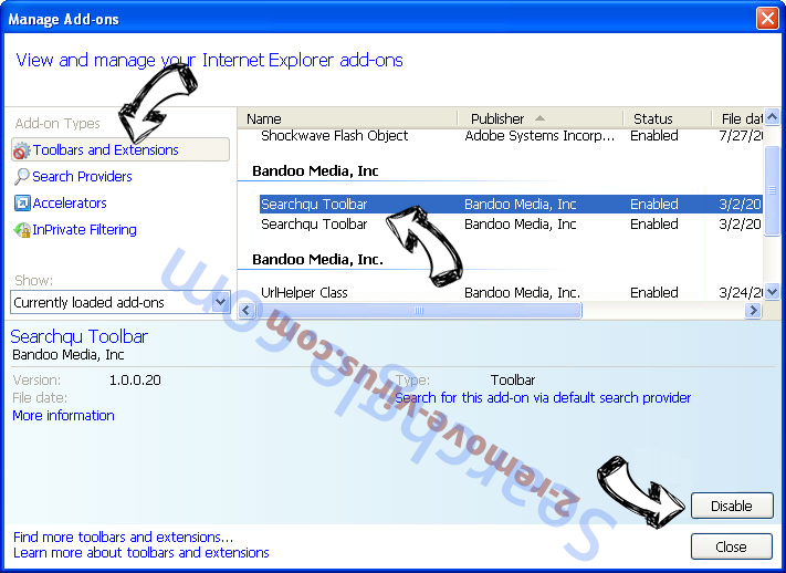 Search.qpgriefi.com IE toolbars and extensions