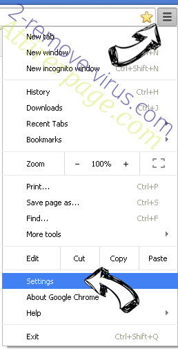 Tika-search.com Chrome menu
