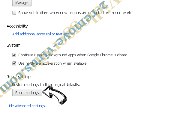 Funnypage123.com Chrome advanced menu