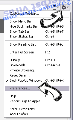 Black Shades Virus Safari menu