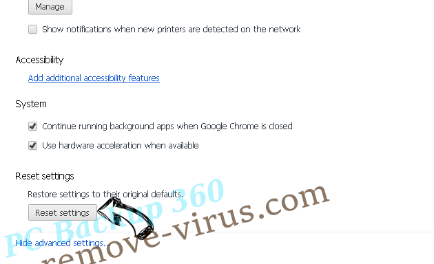 Russian EDA2 Virus Chrome advanced menu