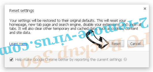 Russian EDA2 Virus Chrome reset