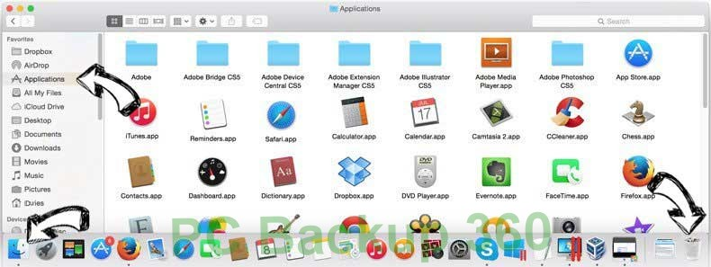 PC Backup 360 removal from MAC OS X