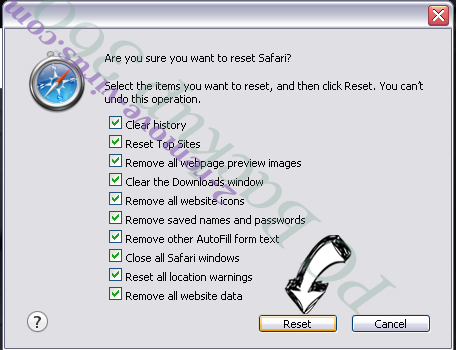 Searchqm.com Safari reset