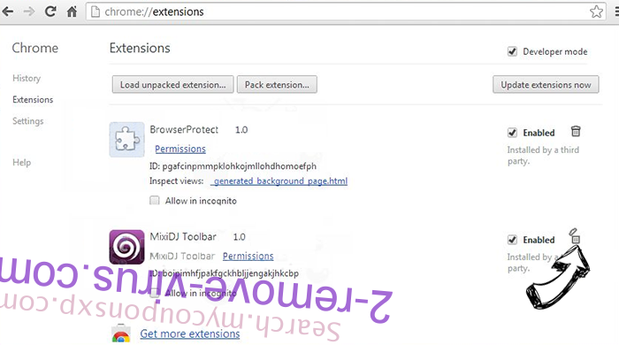 ExactSearch.org Chrome extensions remove