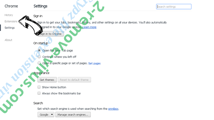 Crypz file extension virus Chrome settings