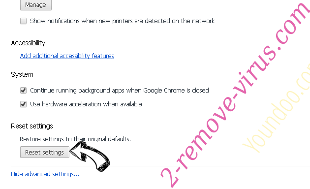 Rimuovere Startup Maximizer Chrome advanced menu