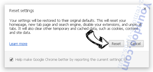 Homepage-tab.com Chrome reset