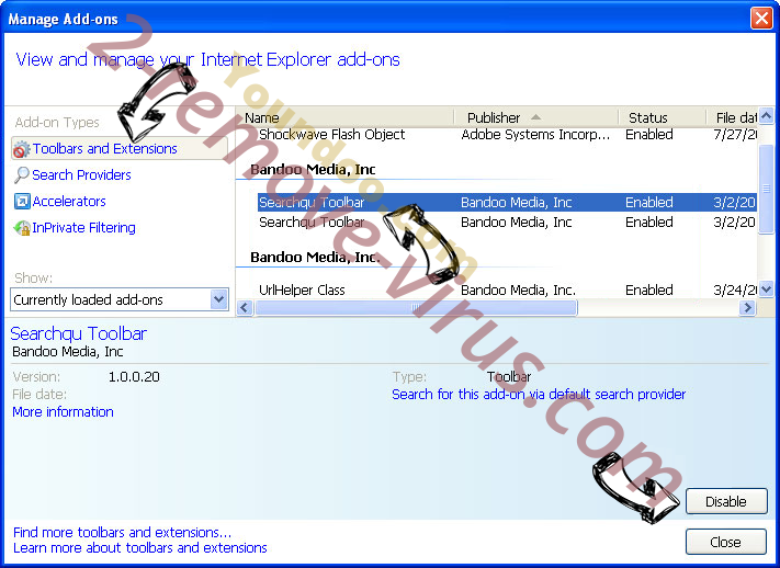 Fulltabsearch.com IE toolbars and extensions