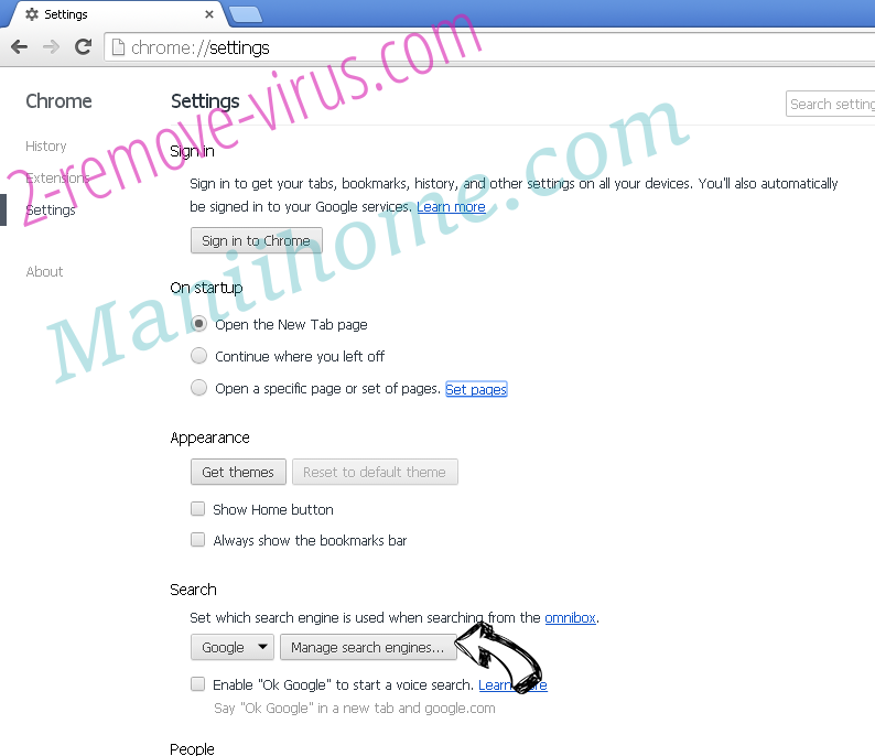 Maniihome.com Chrome extensions disable