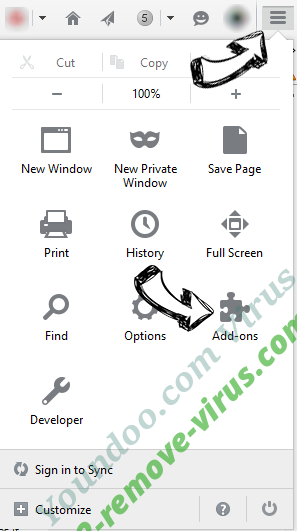 Youndoo.com Virus Firefox add ons