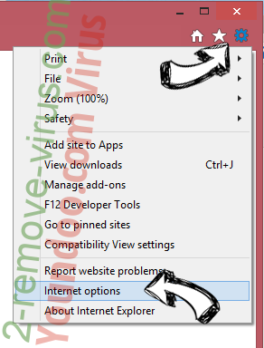 Trotux.com Search Virus IE options