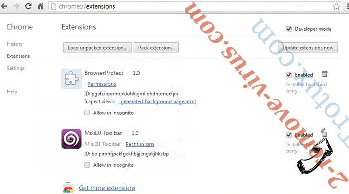 Goverial Search redirect Chrome extensions remove