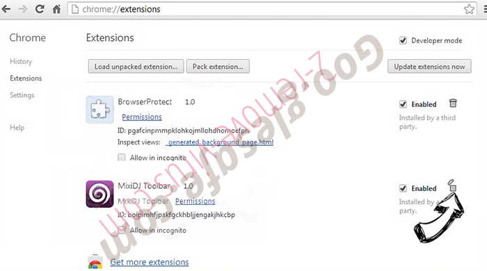 Search.nextmediatabsearch.com Chrome extensions remove