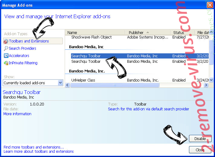 Search.searcheeh.com IE toolbars and extensions