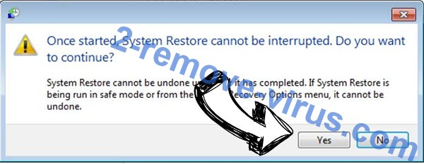 Non ransomware virus removal - restore message