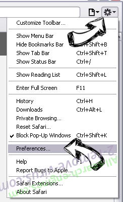 My Forms Finder Safari menu