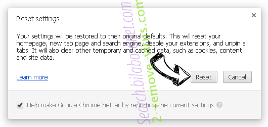 SrchSafe Search Chrome reset