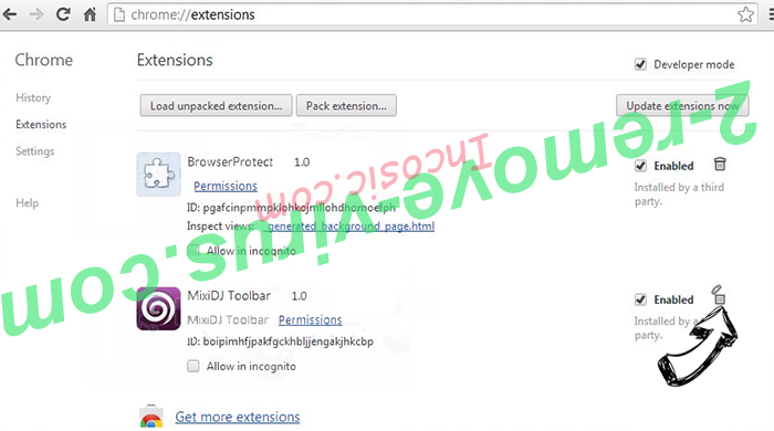 Pcbooster.biz Chrome extensions remove