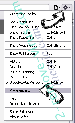 Pcbooster.biz Safari menu