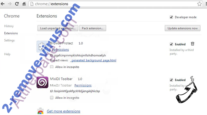 Search.funcybertabsearch.com verwijderen Chrome extensions remove