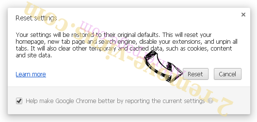 Attirerpage.com Chrome reset
