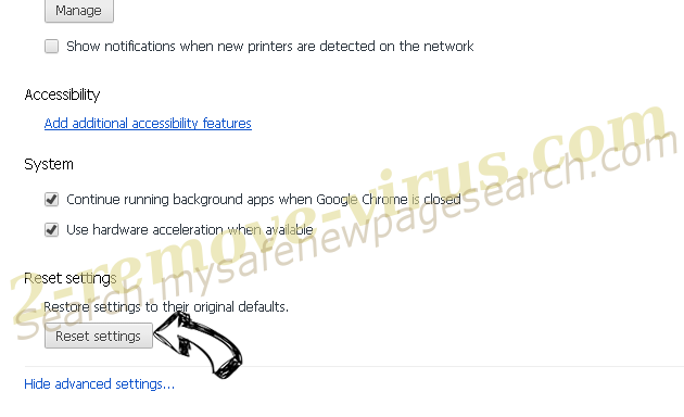 Instant Inbox adware Chrome advanced menu