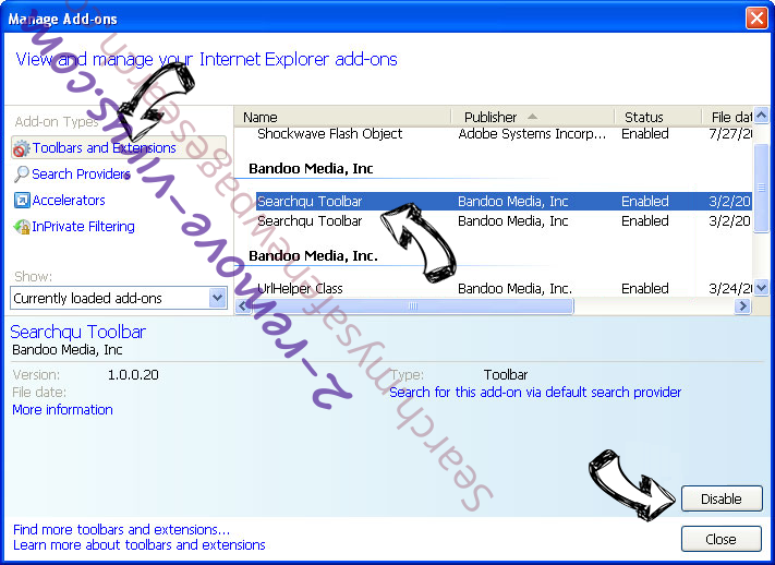 Instant Inbox adware IE toolbars and extensions