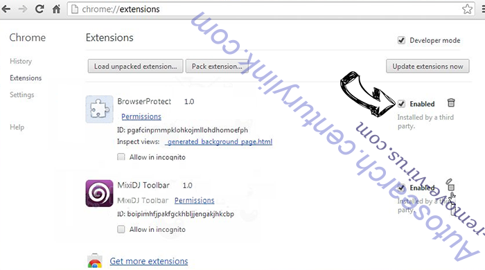 .PAYMS Extension Virus Chrome extensions disable