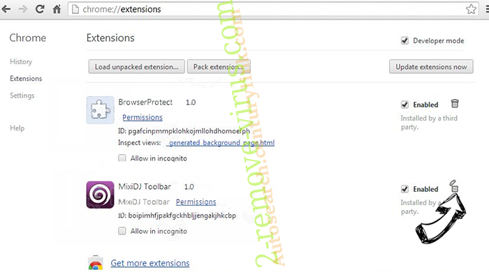 MapsFrontier virus Chrome extensions remove