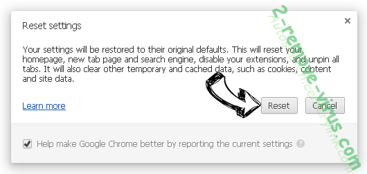 Unanalytics.com Chrome reset