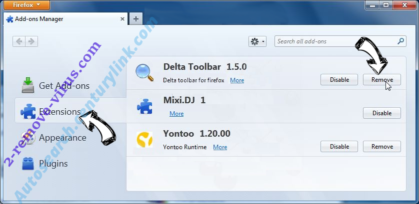 Удаление MyFastDial One New Tab Firefox extensions