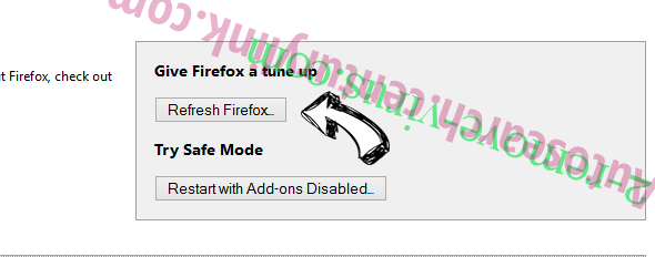 Удаление MyFastDial One New Tab Firefox reset