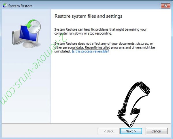 Get rid of BtcKING ransomware - restore init