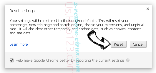 .Kratos file virus Chrome reset