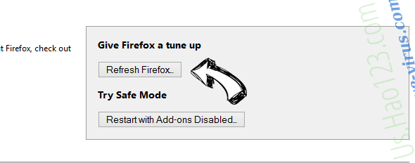 Search.razoss.com Firefox reset