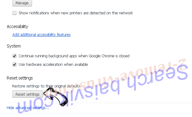 Chrome Security Warning Scam Chrome advanced menu