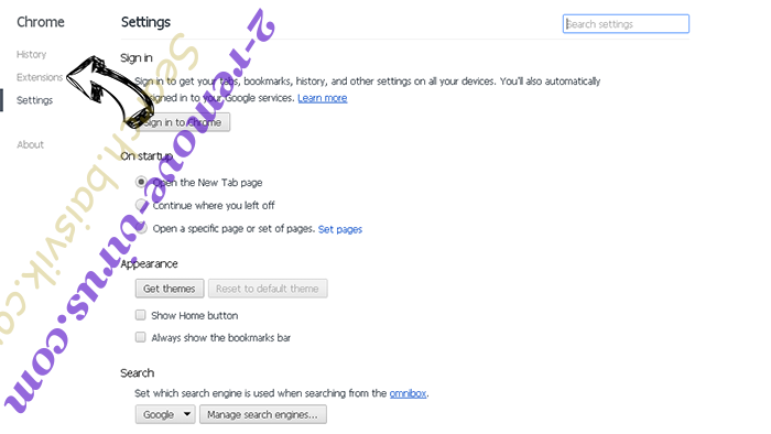 Chrome Security Warning Scam Chrome settings