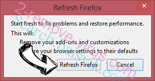 Fulhus.com redirect virus Firefox reset confirm