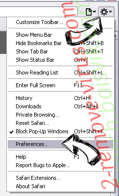 Todays Breaking News Virus Safari menu