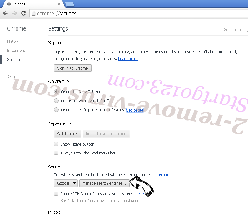 Searchz.co Chrome extensions disable
