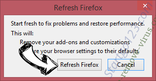 Search123now.net Firefox reset confirm