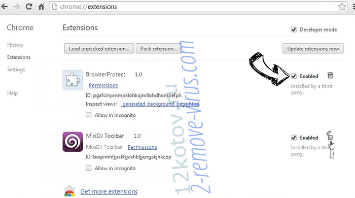 12kotov.ru Chrome extensions disable