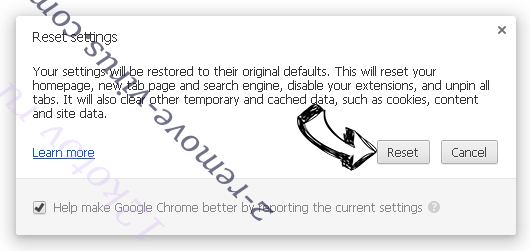 Searchengaged.com - come rimuovere? Chrome reset